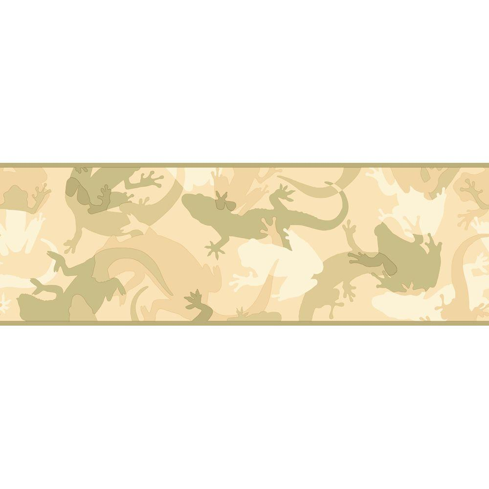 York Wallcoverings 6.75 in. Critter Camo Border - DISCONTINUED