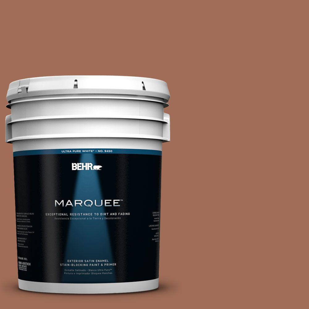 BEHR MARQUEE 5-gal. #230F-6 Earth Tone Satin Enamel Exterior Paint-945305 -