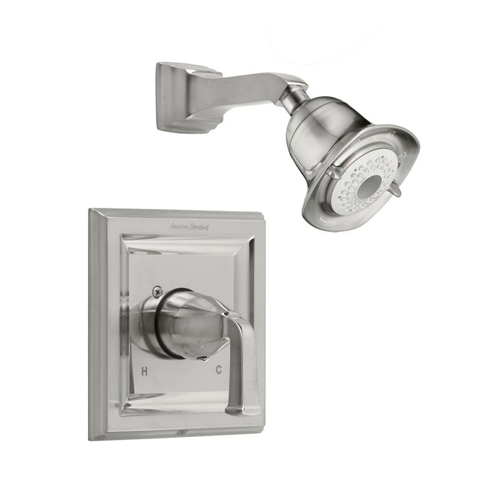 Town Square 1-Handle Shower Faucet Trim Kit in Satin Nickel (Valve