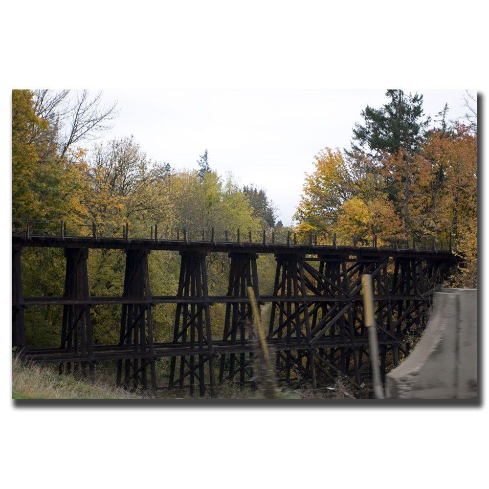 18 in. x 24 in. Country Bridge Canvas Art