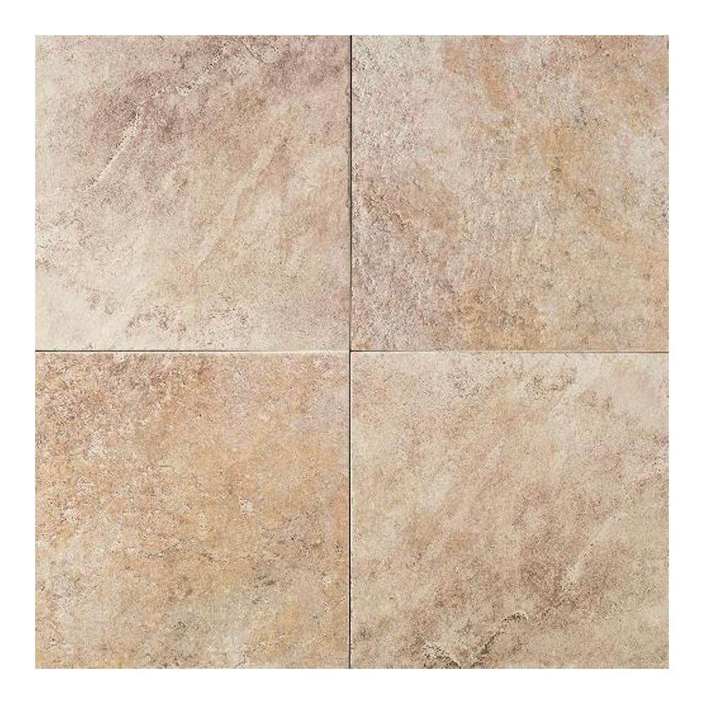 Daltile continental slate egyptian beige 18 in x 18 in for Daltile porcelain tile