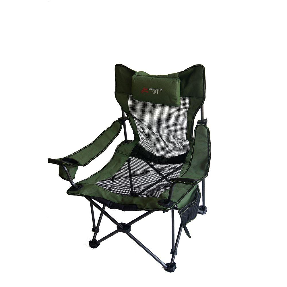 ORE International 35.25 in. H Portable Mesh Folding Green Chair-M50353 -