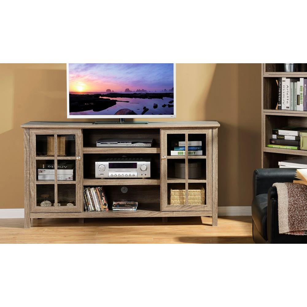 Flamelux Provence Reclaimed Wood Entertainment Center
