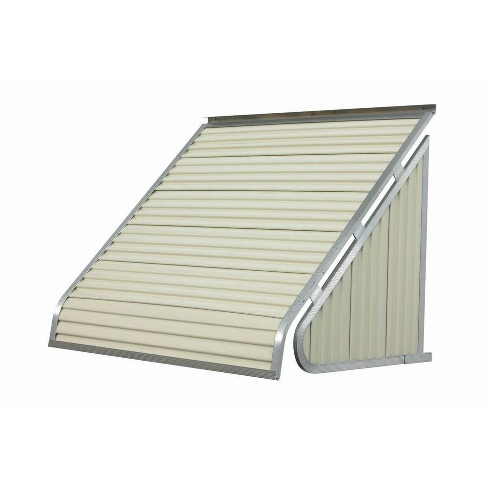 NuImage Awnings 7 ft. 3500 Series Aluminum Window Awning (28 in. H x 24 in. D) in Almond