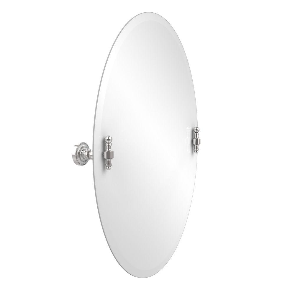 Allied Brass Retro-Dot Collection 21 in. x 29 in. Frameless Oval
