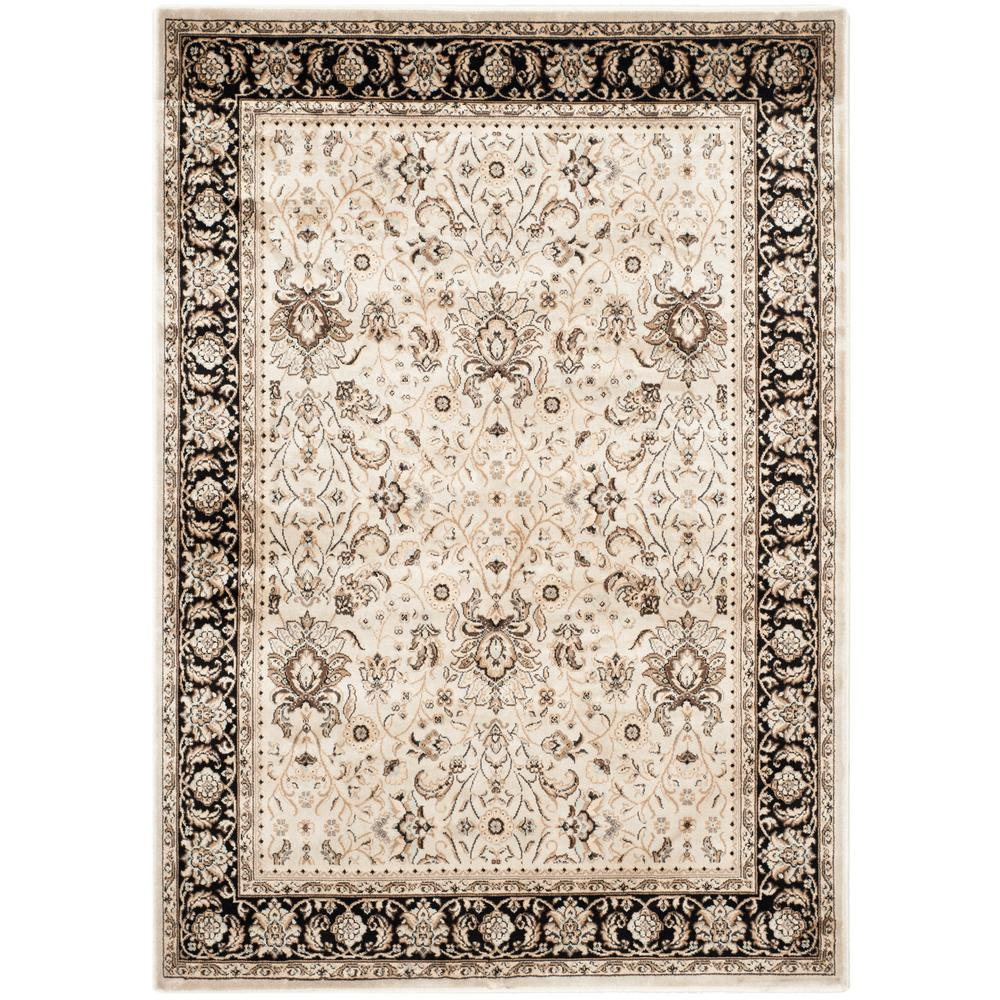 Persian Garden Ivory/Black 4 ft. x 5 ft. 7 in. Area Rug