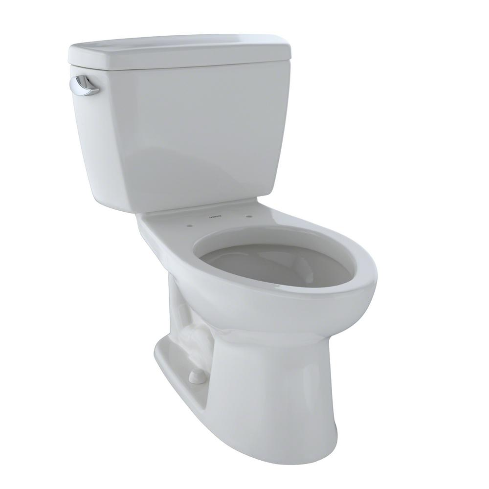 Drake 2-Piece 1.6 GPF Single-Flush Elongated Toilet in Colonial White