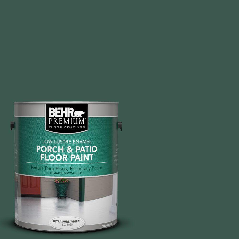 BEHR Premium 1-Gal. #pfc-45 Patio Green Low-Lustre Porch and Patio Floor Paint