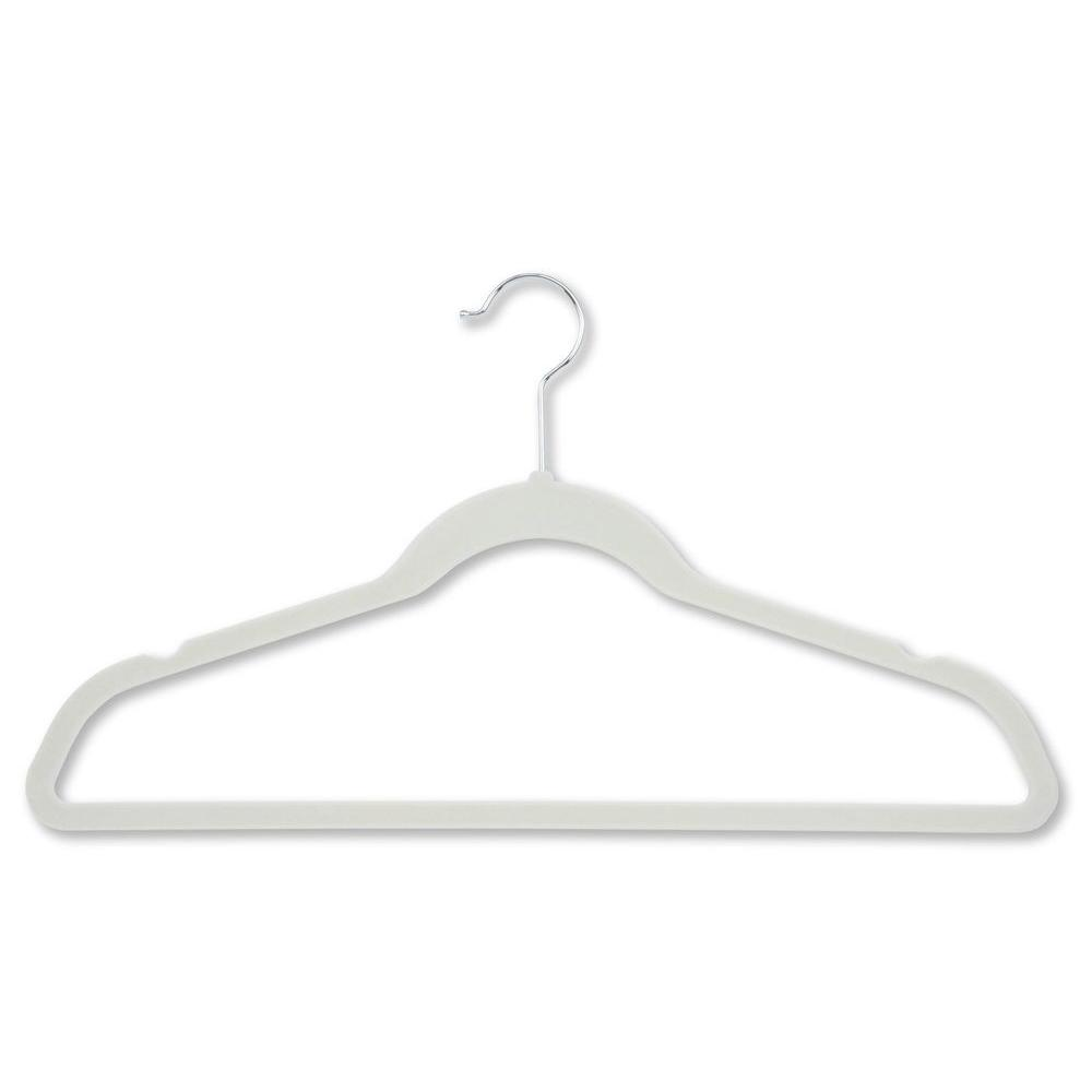 Honey-Can-Do Velvet Touch White Suit Hanger (20-Pack)-HNG-01051 - The Home Depot