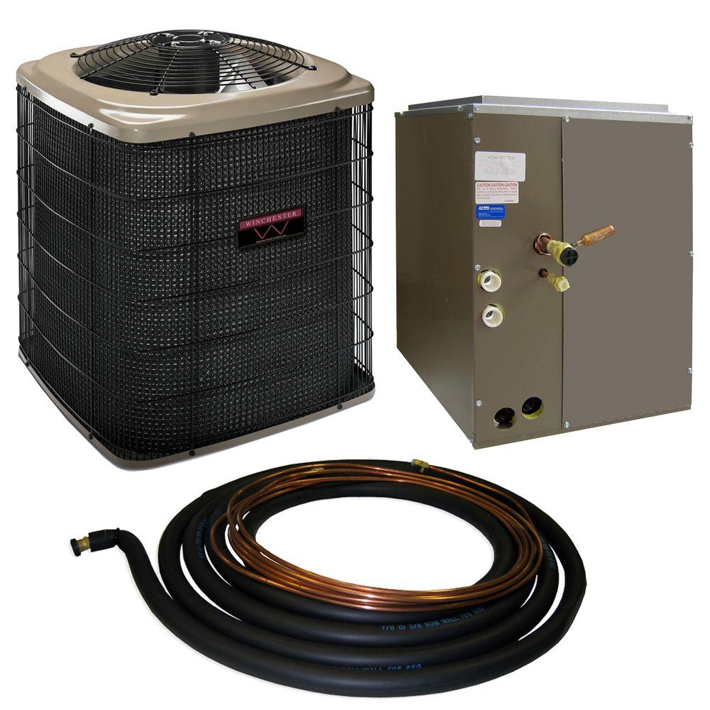 null 2-Ton 13 SEER Quick Connect Heat Pump System with 17.5 in. Coil and 30 ft. Line Set-DISCONTINUED
