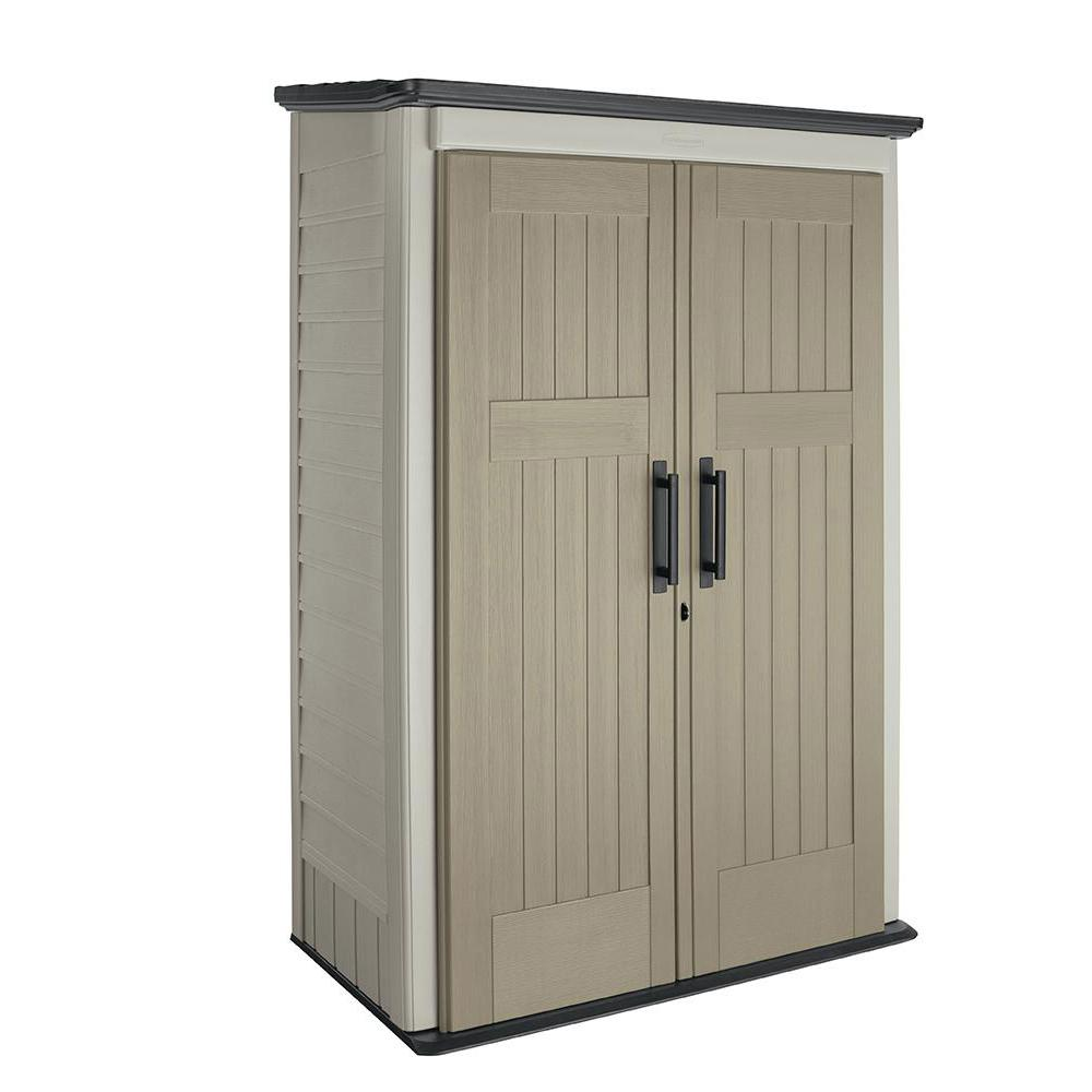 4 ft. x 2-1/2 ft. Large Vertical Storage Shed
