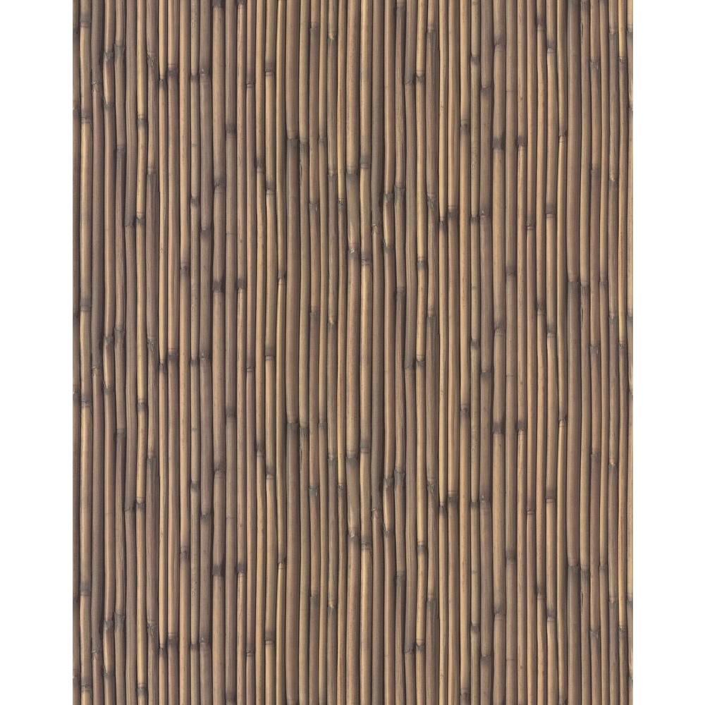 56 sq. ft. Faux Bamboo Wallpaper