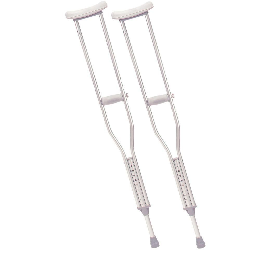 Drive Walking Crutches with Underarm Pad and Handgrip for Tall Adult-rtl10402