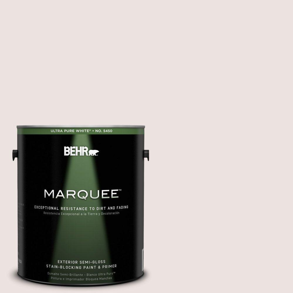 BEHR MARQUEE 1-gal. #140E-1 Patient White Semi-Gloss Enamel Exterior