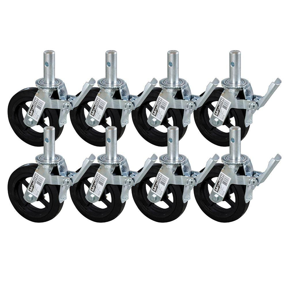 MetalTech 8 in. Scaffold Caster Wheel (8-Pack)-M-MBC8K8 - The Home Depot