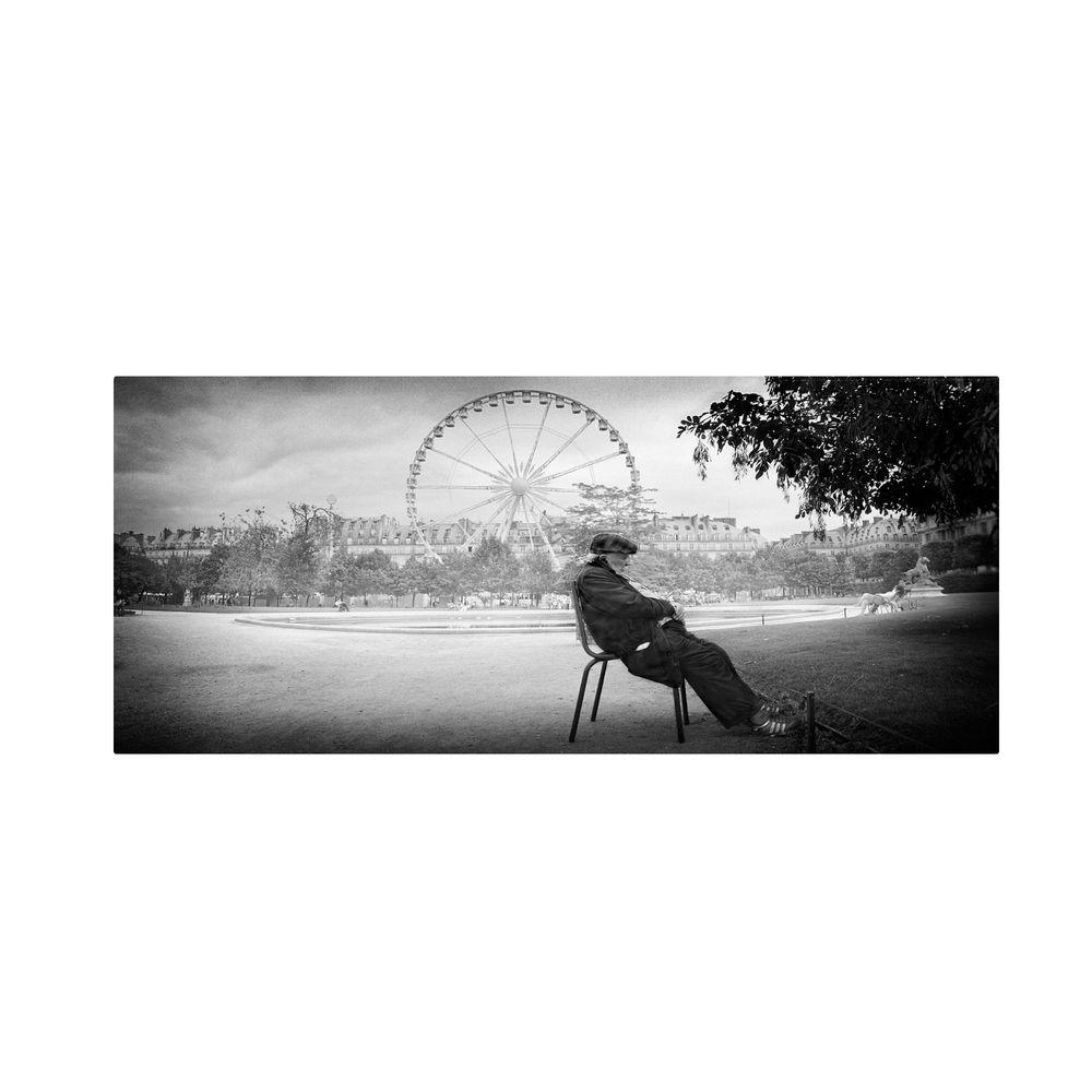12 in. x 24 in. Dreaming in Paris Canvas Art
