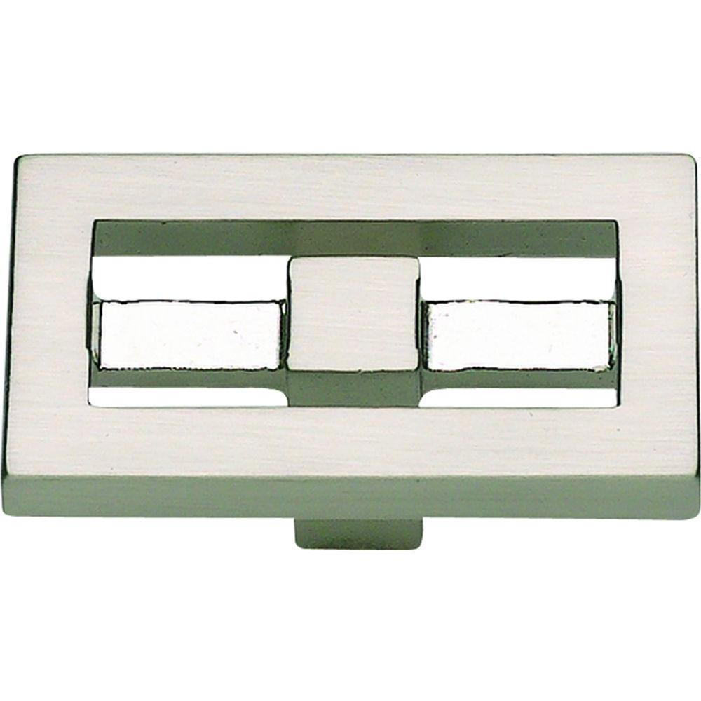 Atlas Homewares Nobu Collection 1-3/4 in. Brushed Nickel Rectangle Cabinet Knob