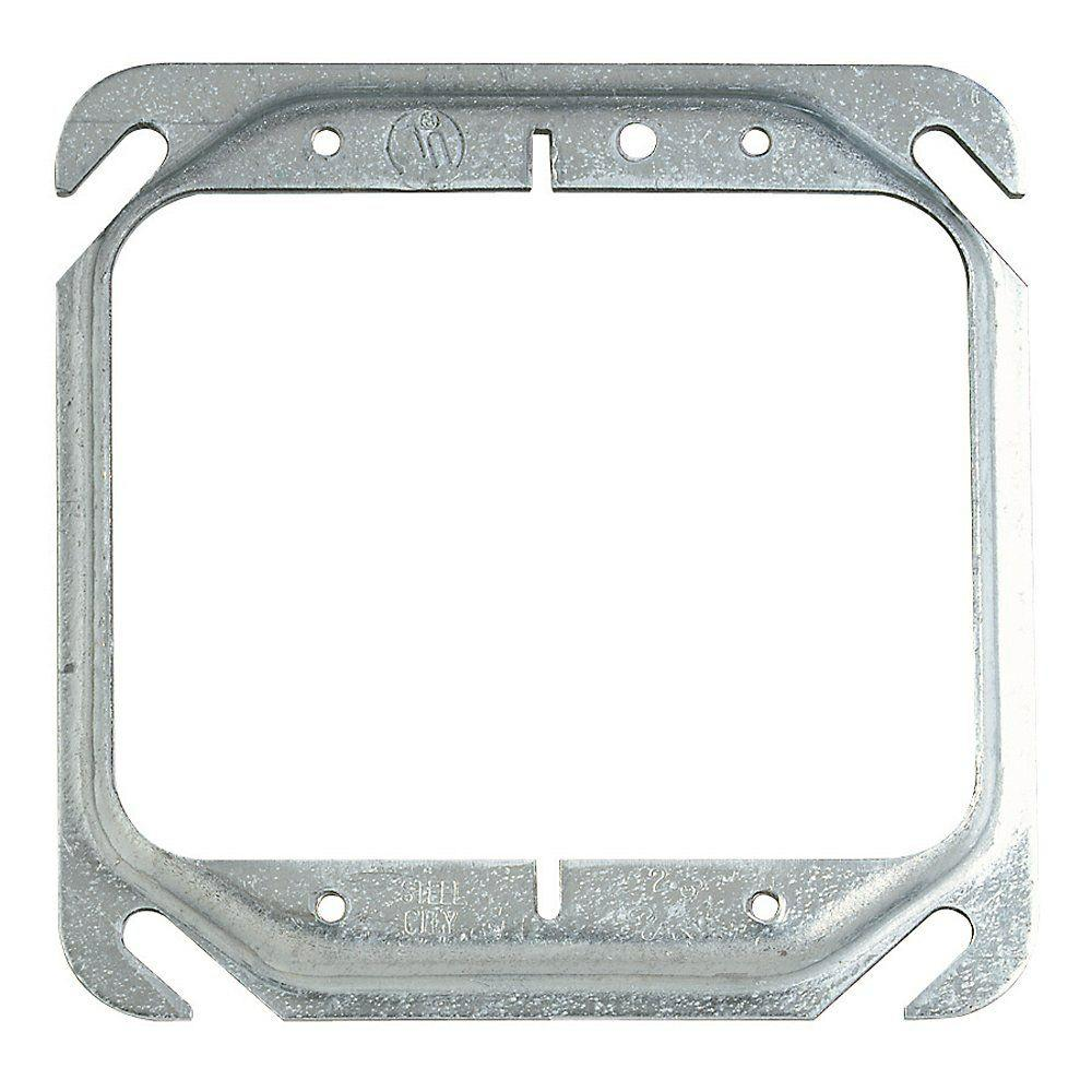 1-Gang Square Mud Ring (Case of 25)-52C0-25R - The Home Depot