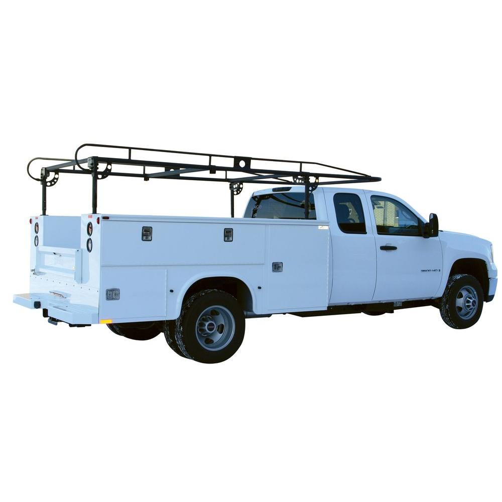 Black Long Utility Body Ladder Rack