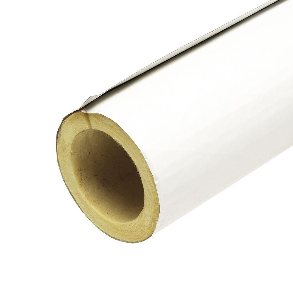 null 2 in. x 3 ft. Fiberglass Self-Sealing Pre-Slit Pipe Cover