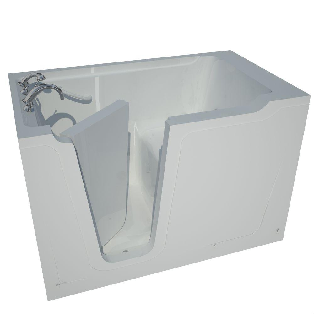 Universal Tubs 5 ft. Left Drain Walk-In Bathtub in White-HD3660LWS -