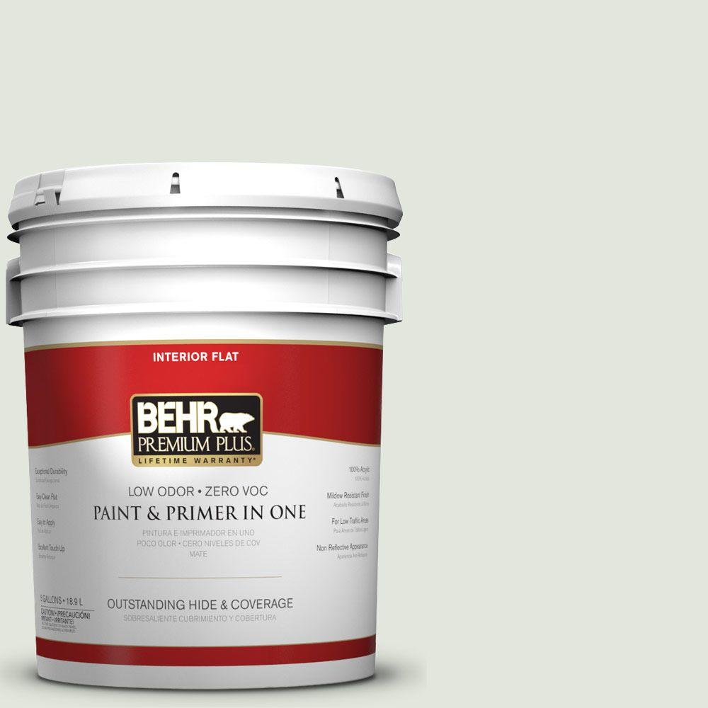 5-gal. #BL-W6 Whispering Waterfall Flat Interior Paint