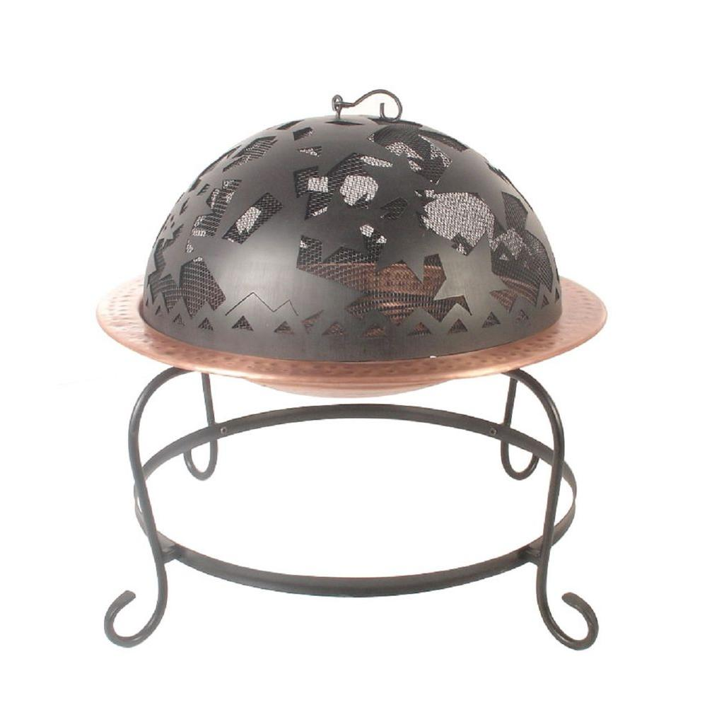 32 in. Round Star Cutout Fire Pit-DS-14550 - The Home Depot