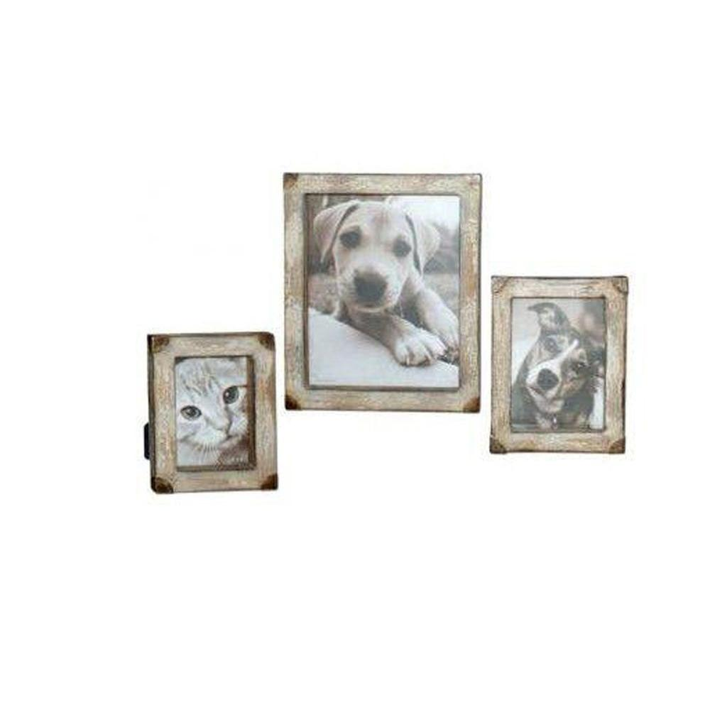Home Decorators Collection Cahaya 1-Opening 4 in. x 6 in. x 5 in. x 7 in. and 8 in. x 10 in. Tan Photo Frames (Set of 3)