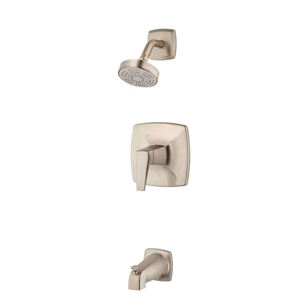 Pfister Arkitek Single-Handle Tub and Shower Faucet Trim Kit in Brushed
