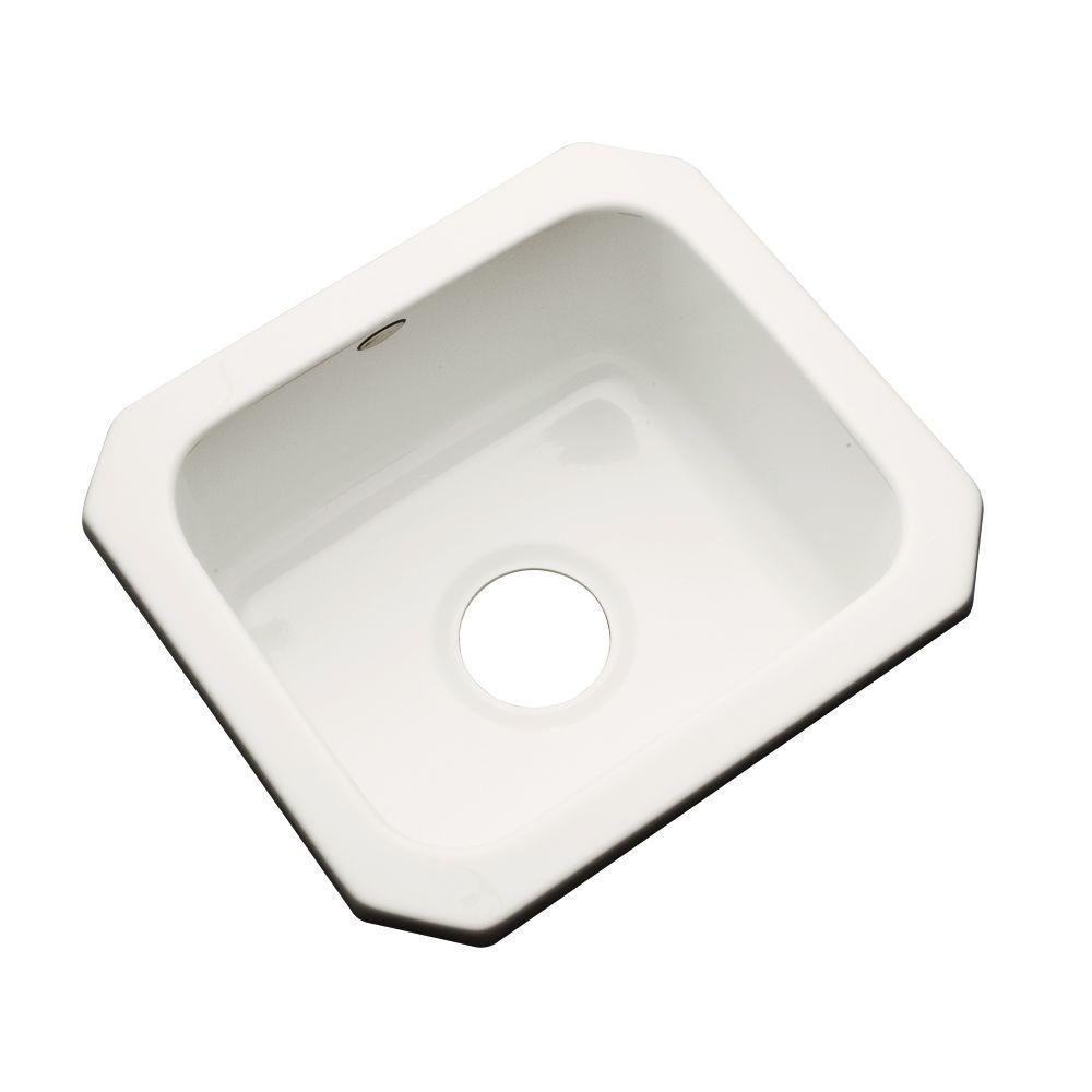Manchester Undermount Acrylic 16 in. 0-Hole Single Basin Entertainment Sink in