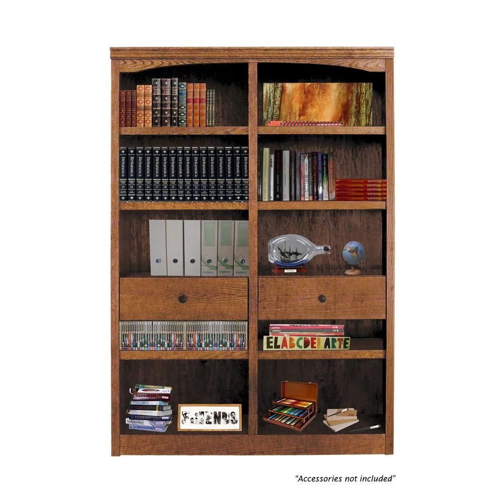Concepts In Wood Midas Drop in Shelf and Drawer Unit for Midas Double Wide Dry Oak Bookcase