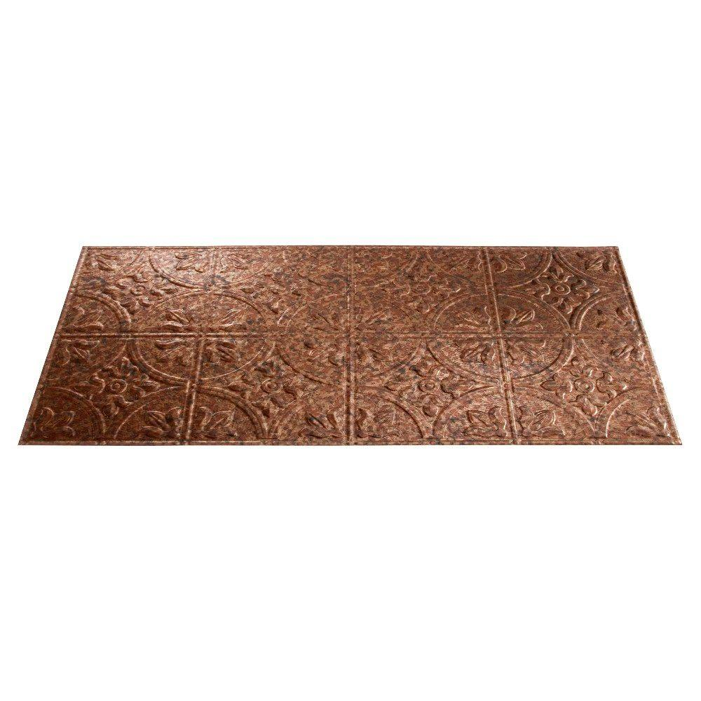 Fasade Traditional 5 2 ft. x 4 ft. Cracked Copper Lay-in Ceiling Tile