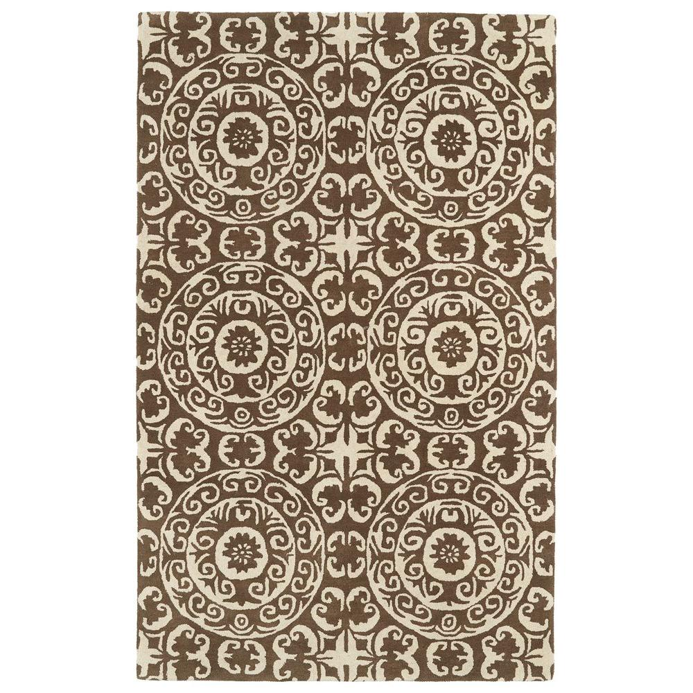 Kaleen Evolution Brown 9 ft. 6 in. x 13 ft. Area