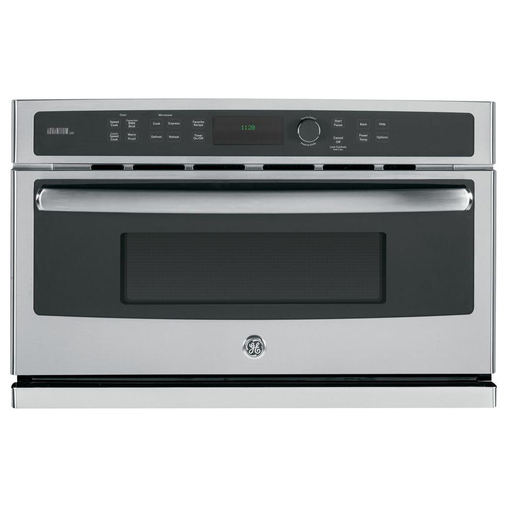 GE Profile Advantium 30 in. Electric Wall Oven with Speed Cook and Convection in Stainless Steel