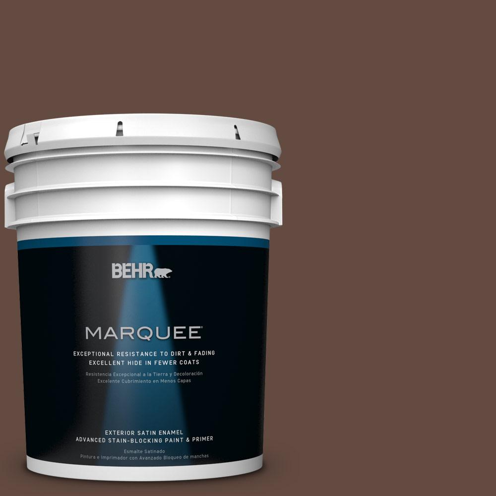 BEHR MARQUEE 5-gal. #QE-16 Earth Chicory Satin Enamel Exterior Paint-945305 -