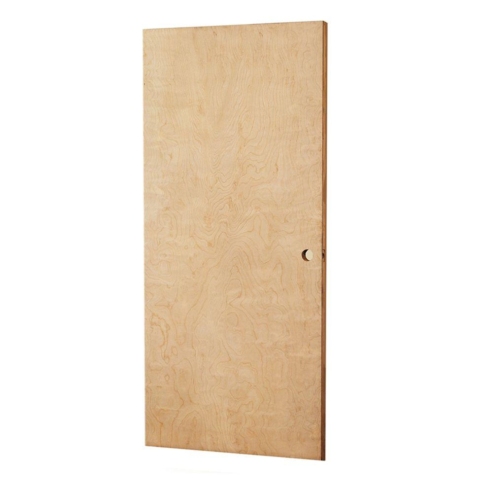 L i f industries 32 in x 79 in smooth flush birch solid Home depot interior doors wood