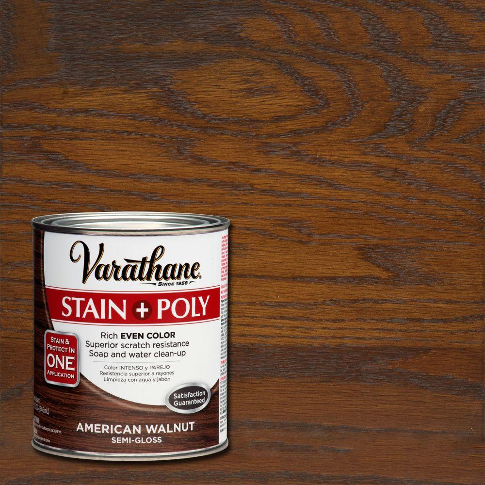 1-qt. American Walnut Stain and Polyurethane (Case of 2)