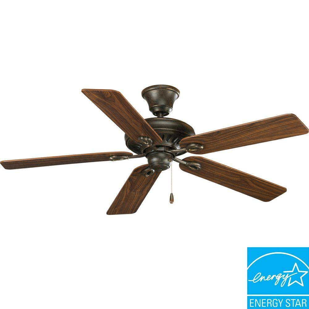Progress Lighting AirPro Signature 52 in. Forged Bronze Ceiling Fan-P2521-77 -
