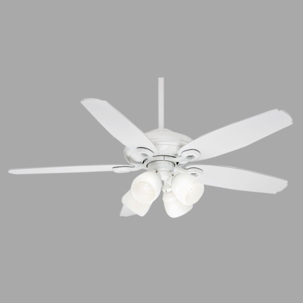 Casablanca Capistrano Gallery 52 in. Snow White Ceiling Fan with 4-Speed Wall Mount Control