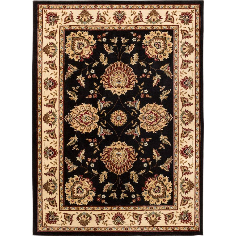 Well Woven Timeless Abbasi Black 7 ft. 10 in. x 10
