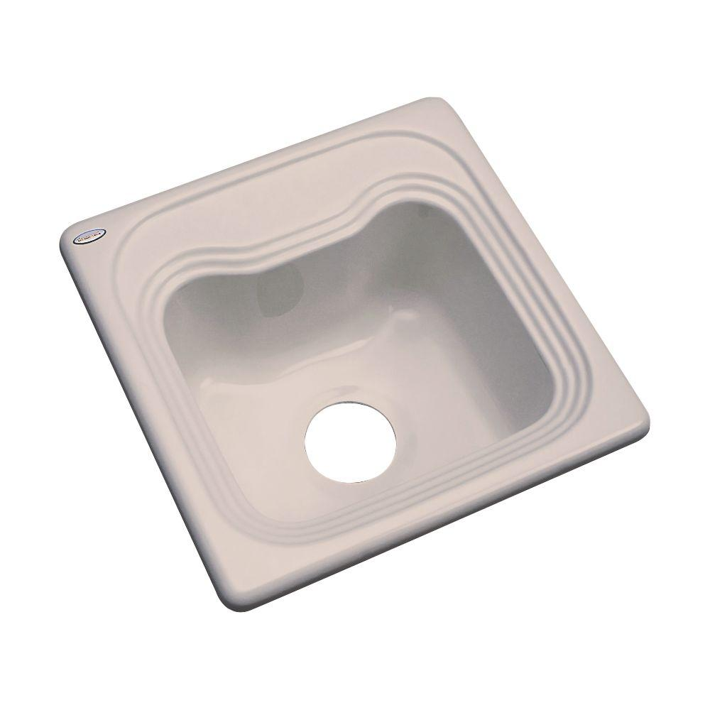 Thermocast Oxford Drop-In Acrylic 16 in. Single Bowl Entertainment Sink in Fawn Beige
