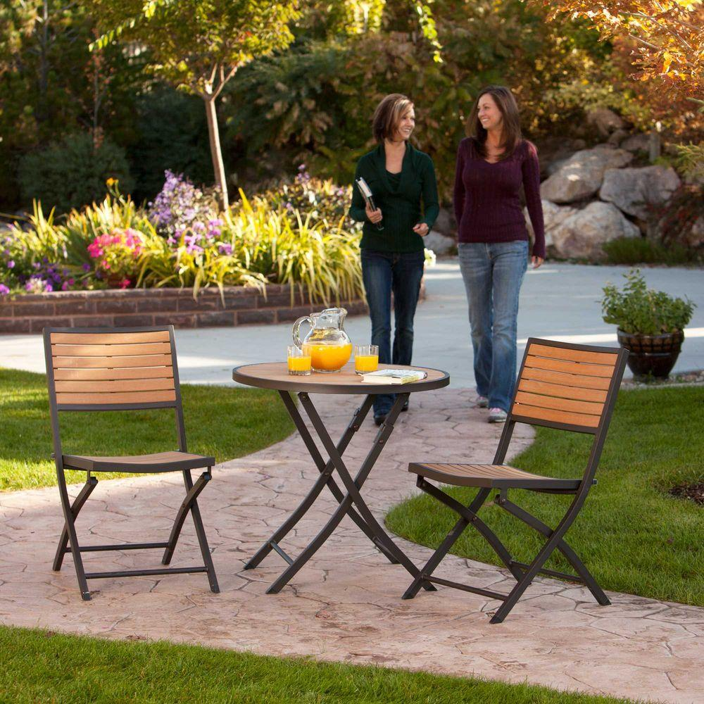 Lifetime 3-Piece Folding Patio Bistro Set