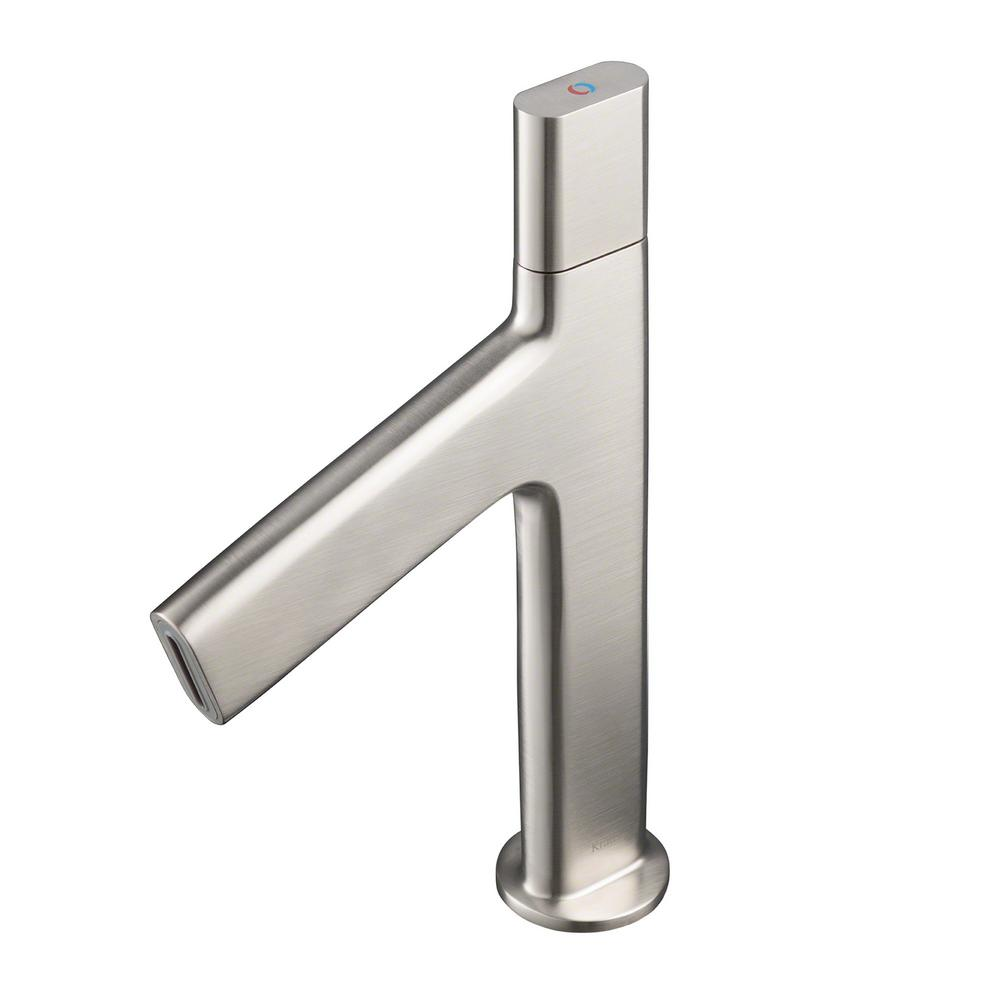 Ino Single Hole Single-Handle Low-Arc Bathroom Faucet in Brushed Nickel