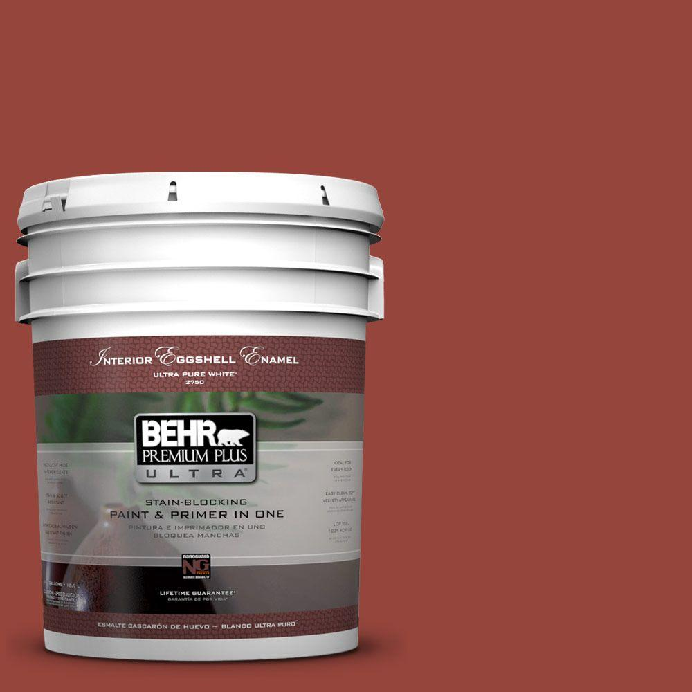 BEHR Premium Plus Ultra 5-gal. #PPU2-17 Morocco Red Eggshell Enamel Interior Paint