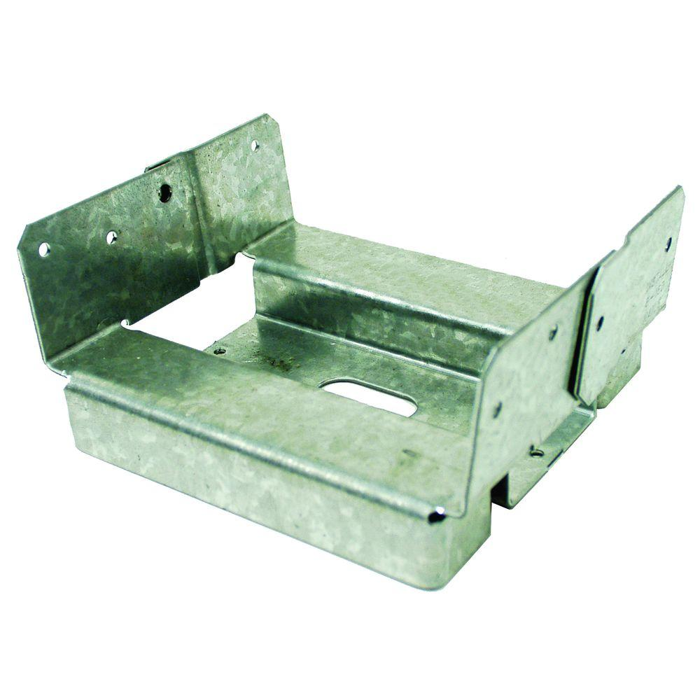 Simpson Strong-Tie 6 in. x 6 in. Rough Galvanized Adjustable Post Base
