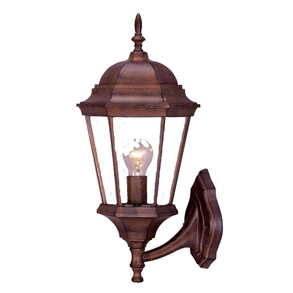 Acclaim Lighting Richmond Collection 1-Light Burled Walnut Outdoor Wall-Mount