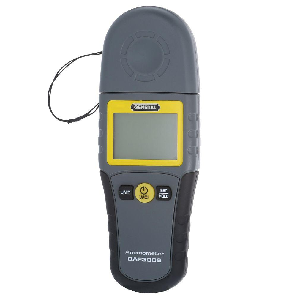 General Tools Mini Digital Anemometer with Wind Chill-DAF3008 - The Home