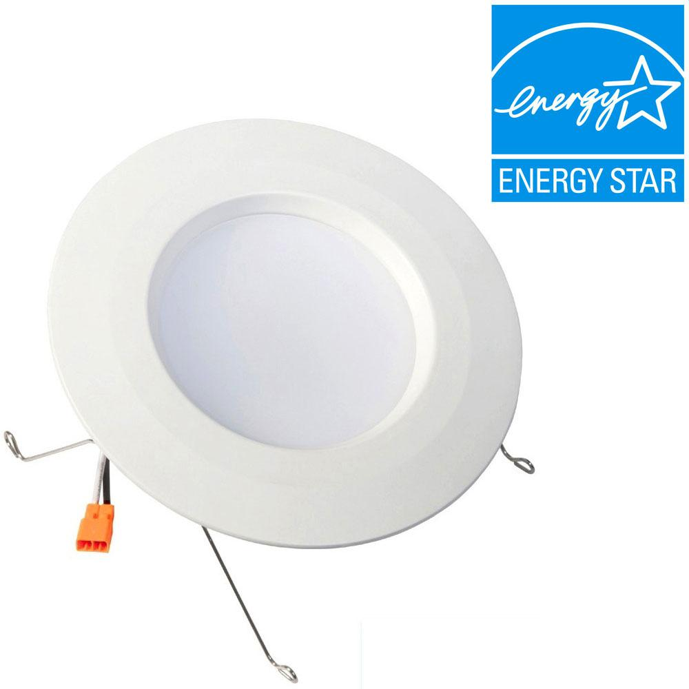 5 in. and 6 in. White Recessed LED Trim with 2700K,