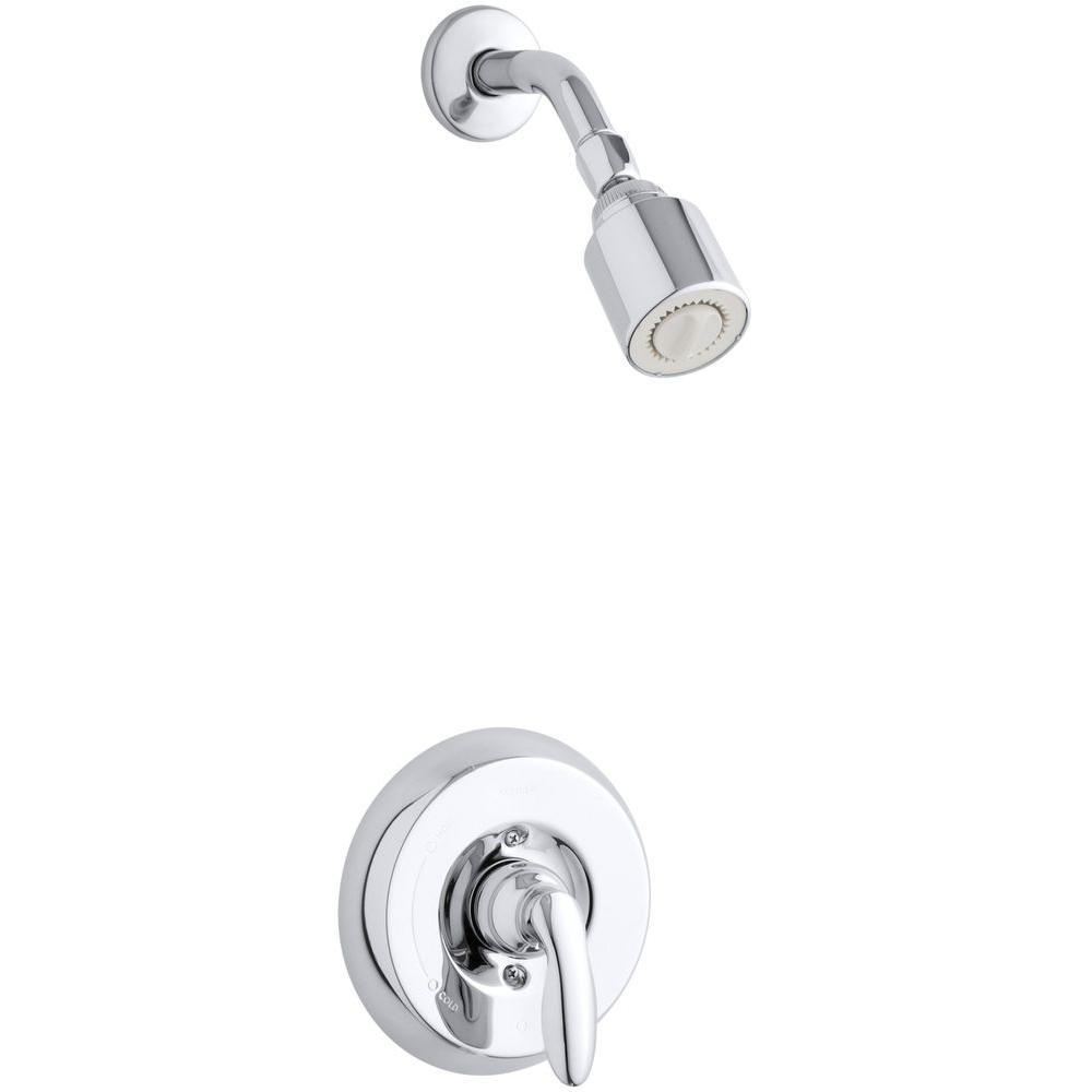 KOHLER Coralais 1-Handle Shower Faucet Trim Kit in Polished Chrome (Valve Not Included)