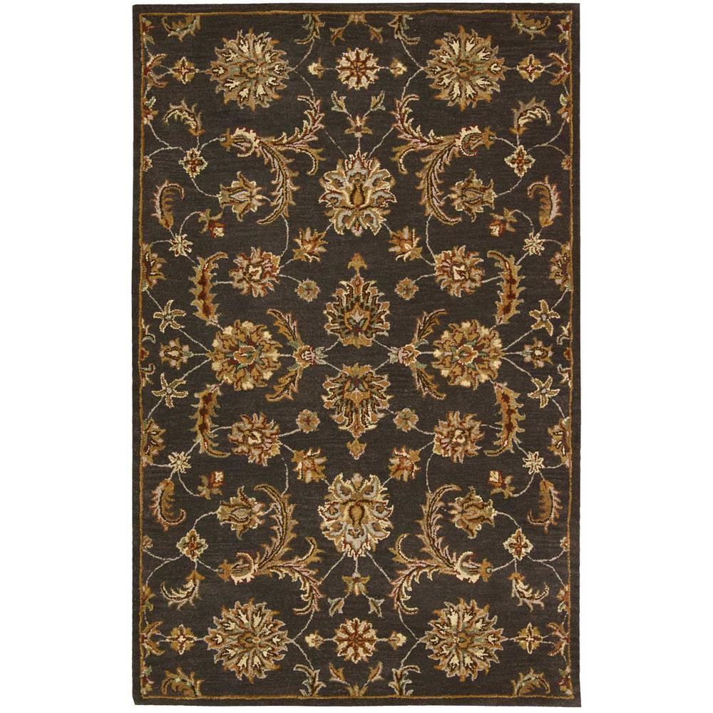 India House Charcoal 5 ft. x 8 ft. Area Rug